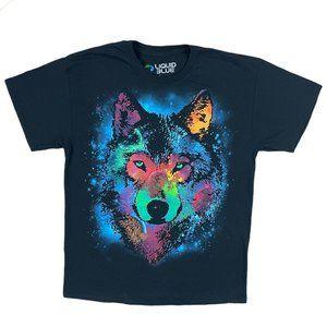 Liquid Blue Space Wolf T-Shirt